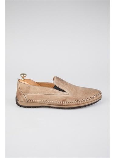 Tripy Hakiki Deri Ayakkabı Bej